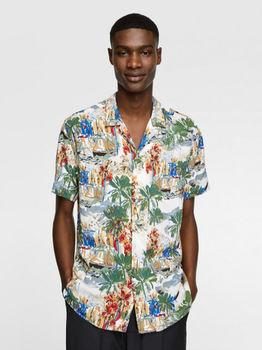 Рубашка ZARA Цветной принт 4459/234/500.