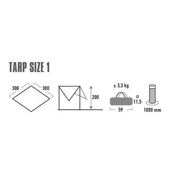 купить Тент туристический High Peak Tarp 1, 3x3, gray, 10031 в Кишинёве