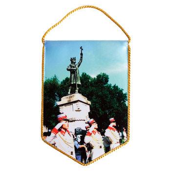 купить Вымпел атласный 2-х сторонний - Памятник Штефану Великому в Кишинёве