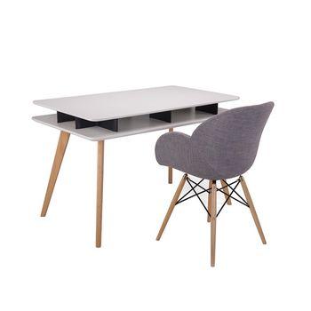 купить Стол с деревянной поверхностью и деревянными ножками 1200x700x750 мм, белый в Кишинёве