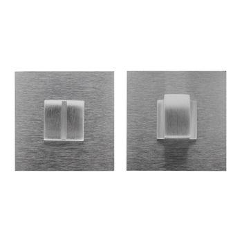 Дверная ручка на розетке Prisma хром сатин + накладка WC