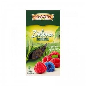 Чай зеленый Big Active with Raspberry,  100 гр