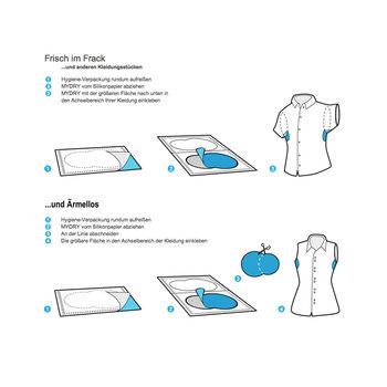 MYDRY - Вкладыши в одежду для защиты от пота - Белые, 14шт