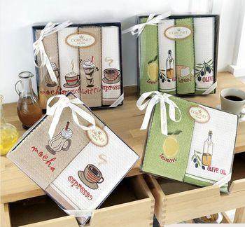 cumpără Prosoape de bucătărie pentru mâini CORONET HOME (4 bucati) intr-o cutie cadou, Turcia în Chișinău