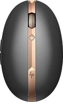 HP Spectre Rechargeable Laser Mouse 700, 1200 dpi, Wireless/Bluetooth, Dark Grey