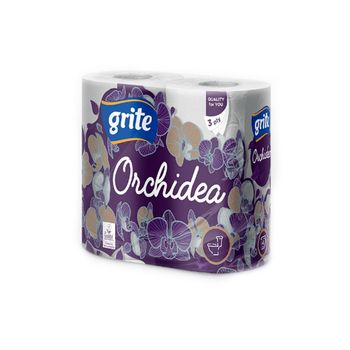 GRITE - Туалетная бумага ORCHIDEA GOLD 3 слоя 4 рулона 21,25м 14/14