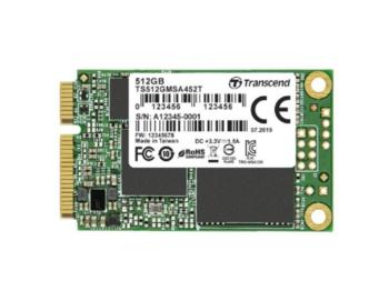 """.mSATA SSD 512 ГБ Transcend """"TS512GMSA452T"""" [R / W: 560/520 МБ / с, 95 000 операций ввода-вывода в секунду, SM2258, 3 000 циклов P / E, 3DTLC]"""