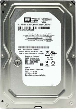 ".320Gb HDD 3.5"" Western Digital WD3200AVJS Caviar® Blue™, 7200rpm, 8Mb, SATAII"