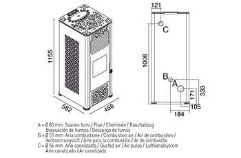 купить Печь пеллетная - GEMMA 15 кВт в Кишинёве