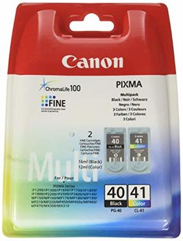 Multi Pack Ink Cartridge Canon PG-40 & CL-41 for MP150/160/170/180/190/450/460; MF210/220/ iP1200/1300/1600/1700/1800/1900/2200/2500/2600, MP140/150/160/170/180/190/210/220/450/460/470, JX200/500, MX300/310