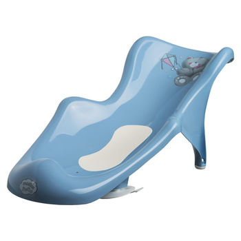 """Подставка для купания """"Bears"""" с противоскользящим ковриком, голубая, код 42519"""