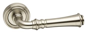 Дверная ручка на розетке Tasha матовый никель