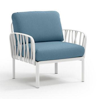 Кресло с подушками для сада и терас Nardi KOMODO POLTRONA BIANCO-adriatic Sunbrella 40371.00.142