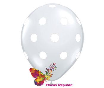 купить Воздушный шар серебряный  с рисунком Горошек - 30 см в Кишинёве