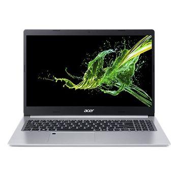 "ACER Aspire A515-54G Pure Silver (NX.HN5EU.00H) 15.6"" IPS FHD (Intel Core i5-10210U 4xCore 1.6-4.2GHz, 8Gb (1x8) DDR4 RAM, 512GB PCIe NVMe SSD, NVIDIA GeForce MX250 2GB GDDR5, w/o DVD, WiFi-AC/BT, 4cell, 0.3MP webcam, RUS, Linux, 1.8kg)"
