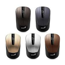 Mouse Genius NX-7015 Chocolate, Metallic style, Wireless 2.4GHz Optical Mouse, Nano receiver, 800/1200/1600 dpi, Extends battery life up to 18 months, Battery Low Indicator, Rubber hand grip, Slot receiver, USB, Chocolate