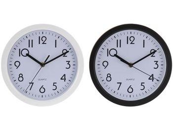 cumpără Ceas de perete rotund D22.5cm, H4cm, culoarea nergu/alb în Chișinău