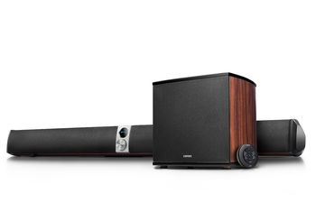 Edifier S70DB HiFi Soundbar and Subwoofer 158W RMS,  Audio in: two analog (RCA), optical, coaxial, aux, remote control, wooden