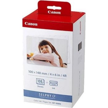 Paper Canon KP-108IN (Color Print Paper + Ink Cassette) 100x148mm, 108 pages for CPseries