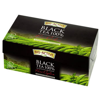купить Чёрный чай Big-Active Black tea Pure Ceylon  50*1,5 g, в пакетиках в Кишинёве