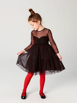 Платье MOHITO Чёрный/ Красный sw852