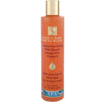 купить Health & Beauty Пилинг для лица, не содержащий мыла, с Глицерином, Апельсиновым Маслом и Витамином Е 250ml (44.120) в Кишинёве