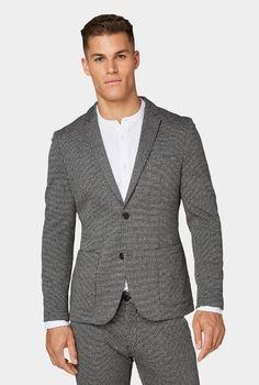 Пиджак Tom Tailor Серый/Черный