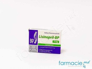 купить Lisinopril-BP comp. 5 mg  N14x2 (Balkan) в Кишинёве