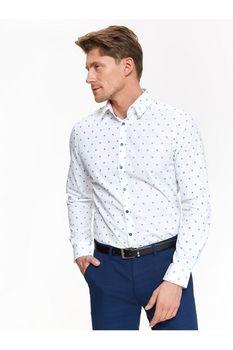 Рубашка TOP SECRET Белый с принтом SKL2737BI