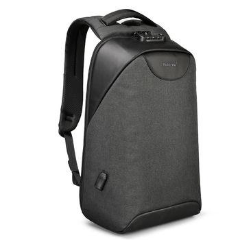 купить Рюкзак Антивор Tigernu T-B3611 Чёрный с USB портом в Кишинёве
