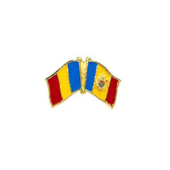 купить Значок - Флаг Румыния & Молдова в Кишинёве