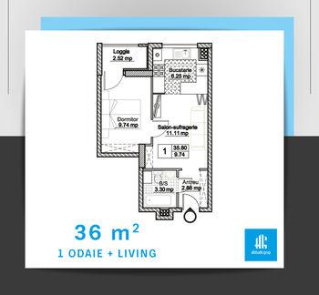 купить 1 комнатная квартира - тип 4 в Кишинёве