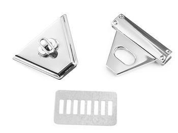Închizătoare geantă, 47x50 mm / argintiu
