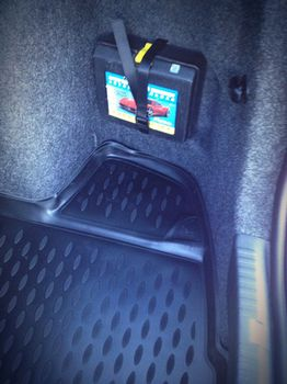SKODA Rapid,  2013-> сед. Коврик в багажник