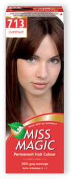 Краска для волос,SOLVEX Miss Magic, 90 мл., 713 - Каштан