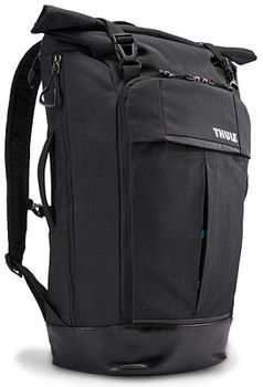 "15.6"" NB Backpack  THULE - Paramount 24L, Black, Rolltop pack designed, Nylon, Dimensions: 29.5 x 25.4 x 52.1 cm, Weight 0.98 kg, Volume 24L"