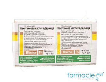 cumpără Acid nicotinic 1% 1ml sol.inj. N10 (Darnita) în Chișinău