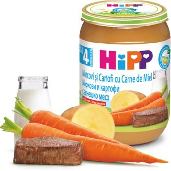 купить Hipp пюре морковь, картофель и ягненок, 6+мес. 190г в Кишинёве
