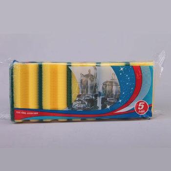 Губка для мытья посуды, набор 5 шт