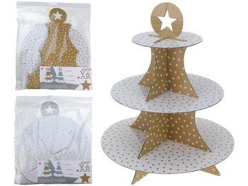 Подставка сервировочная 3-х ярусная Star D15,25,30cm, H32