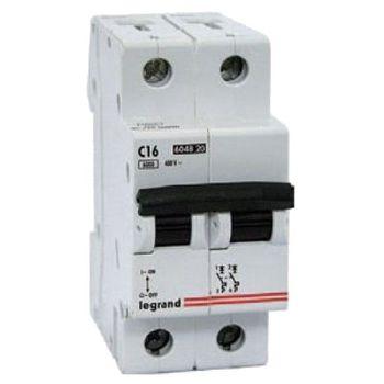 Legrand Автоматический выключатель TХ3 C16A 2P 6000