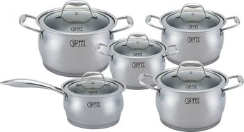Набор посуды GIPFEL GP-1538 (10пр.)