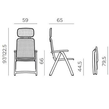 Кресло складное Nardi ACQUAMARINA ANTRACITE 40314.02.000 (Кресло складное для сада и террасы)