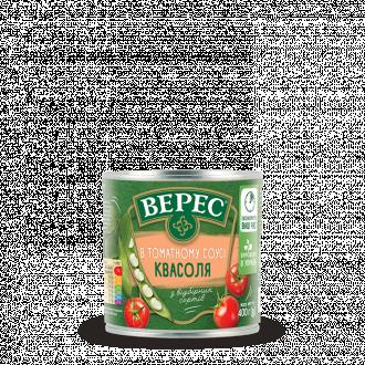 Фасоль в томатном соусе 400г