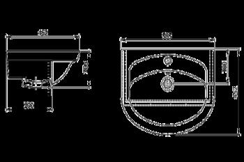Lavoar Santeri Intact 58x45