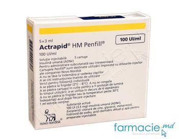 купить Actrapid® HM Penfill® sol. inj. in cartus 100 UI/ml 3 ml N5 в Кишинёве