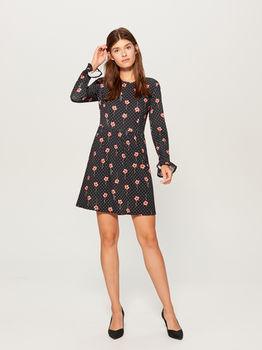 Платье MOHITO Черный в цветочек uy451-99p
