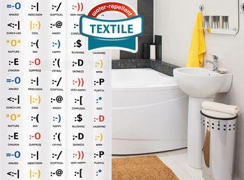 купить Штора для ванной Tatkraft EMOTIONS Textile 14817 в Кишинёве