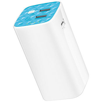 TP-Link TL-PB10400 Power Bank, White, Power Capacity: 10400mAh, LED Flash, Portable Battery Charger - for device with USB port, I/O: USB1 5V/1A, USB2 5V/2.1A, USB1+2 5V/2A(Max)
