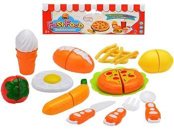 Набор Fast food (столовые приборы продукты)